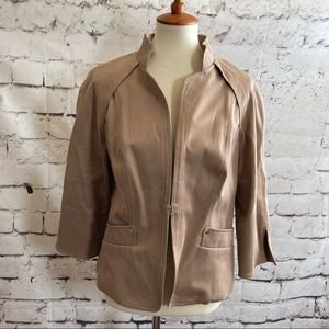 ECCOCL Tan Career Work Jacket Blazer size 12